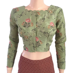 Purchase Embroidered Cotton Readymade Online Blouses
