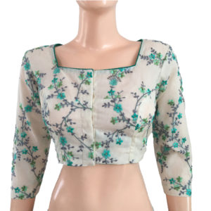 Purchase Online Blouses Readymade Embroidery Cotton