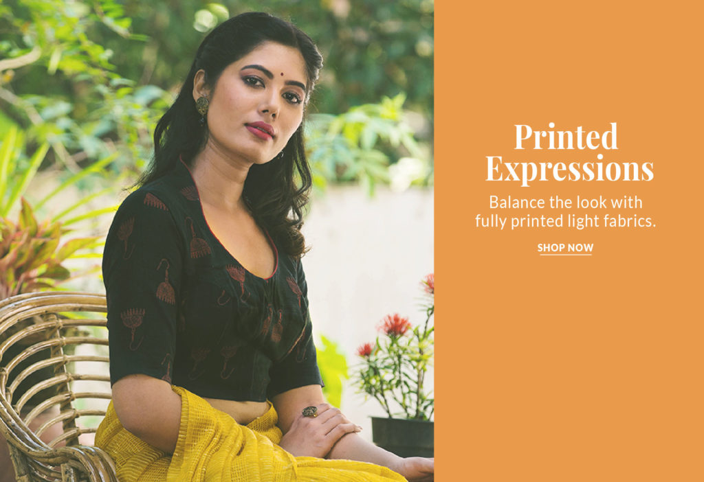 Expressions with Block printed Cotton